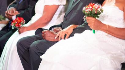Casamento coletivo em agosto